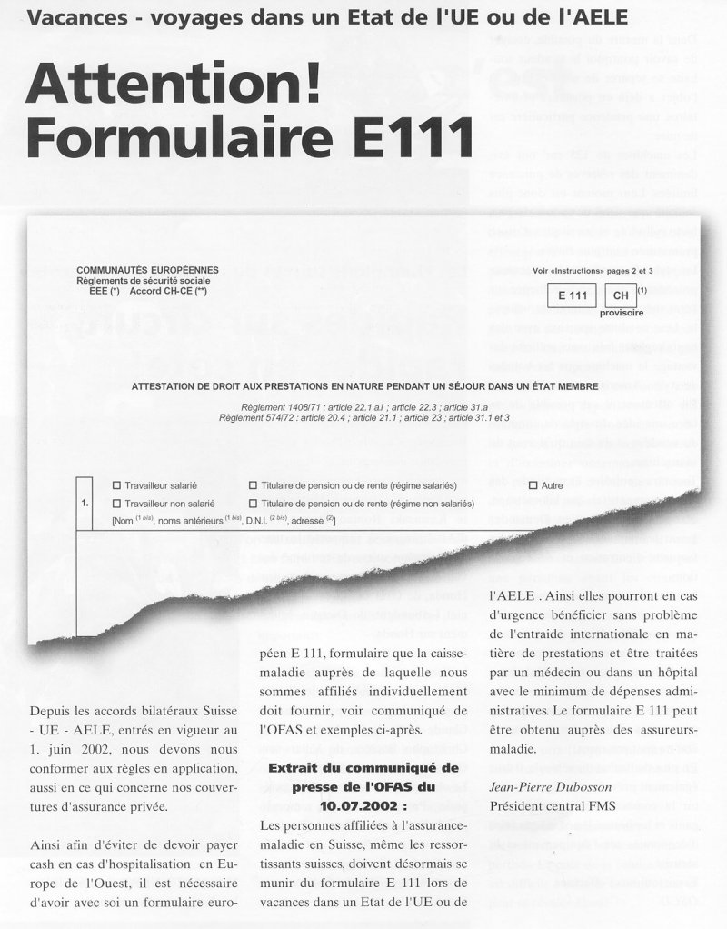 formulaire e111