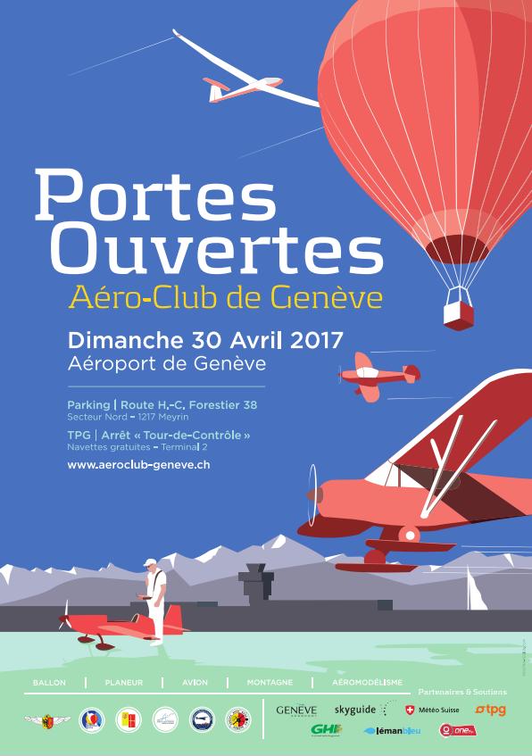 30 avril 2017 : affiche des portes ouvertes à l'Aéroport de Genève