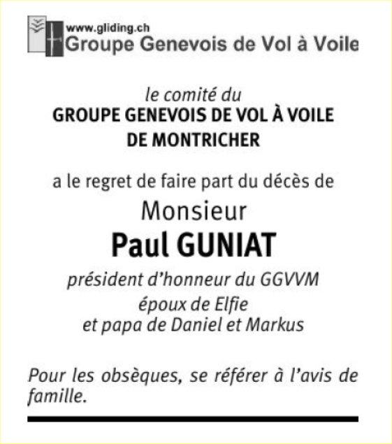 Paul GUNIAT : annonce GGVVM (TDG samedi 24 juin 2017)