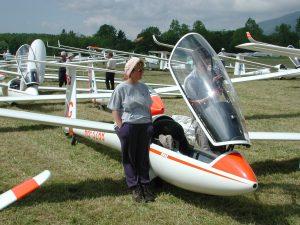 Babou au Championnat planeur de Montricher
